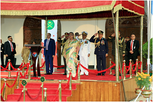 Reception hosted by Hon'ble Prime Minister at 'SENAKUNJA' during Armed Forces Day